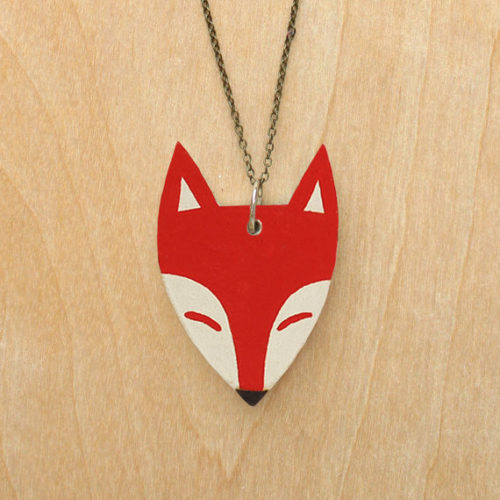 Veronika Glazunova - Large Red Fox Necklace