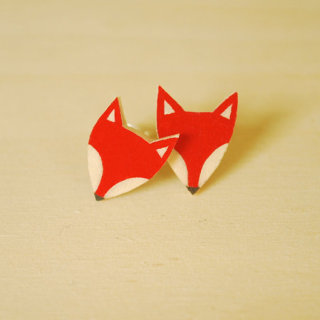 Veronika Glazunova - Fox Earrings