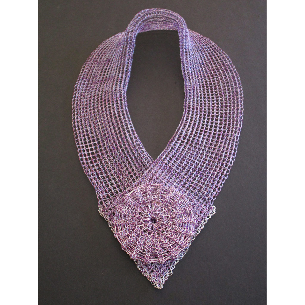 Purple and Silver Scarf