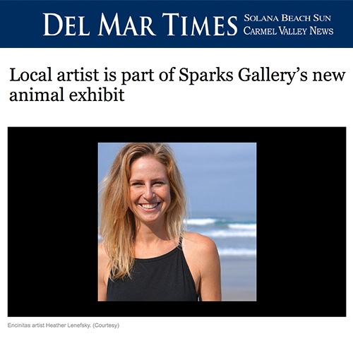 Local artist is part of Sparks Gallery's new animal exhibit