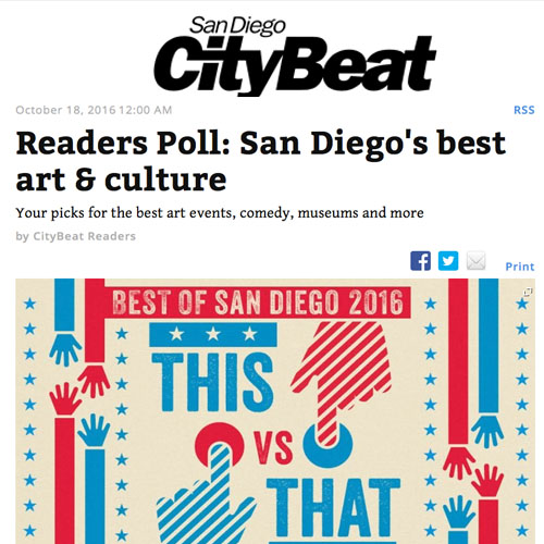 Readers Poll: San Diego's Best Art and Culture
