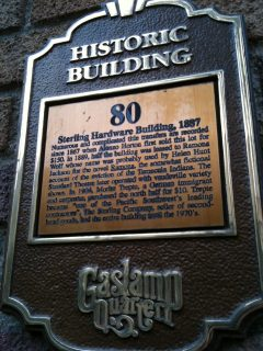 San Diego Historic Plaque #80 - Sterling Hardware