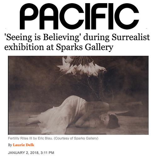 "'Seeing is Believing"" during Surrealist exhibition at Sparks Gallery"